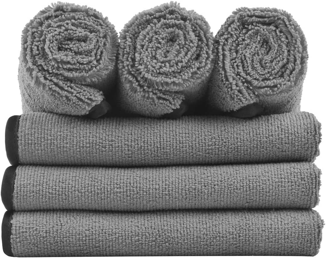 Abtigercars Microfiber Cleaning Cloth 800gsm Dual Layer Polishing Drying Towels for Car Cleaning Extreme Absorbent Super Soft Pack of 3