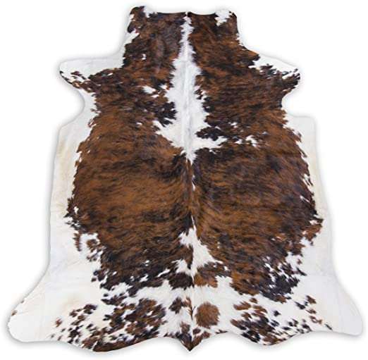 "Off White and Brown Cheetah Print Leather Hair on Cow Hide 12/"" x 12/"" Pre-cut-1"