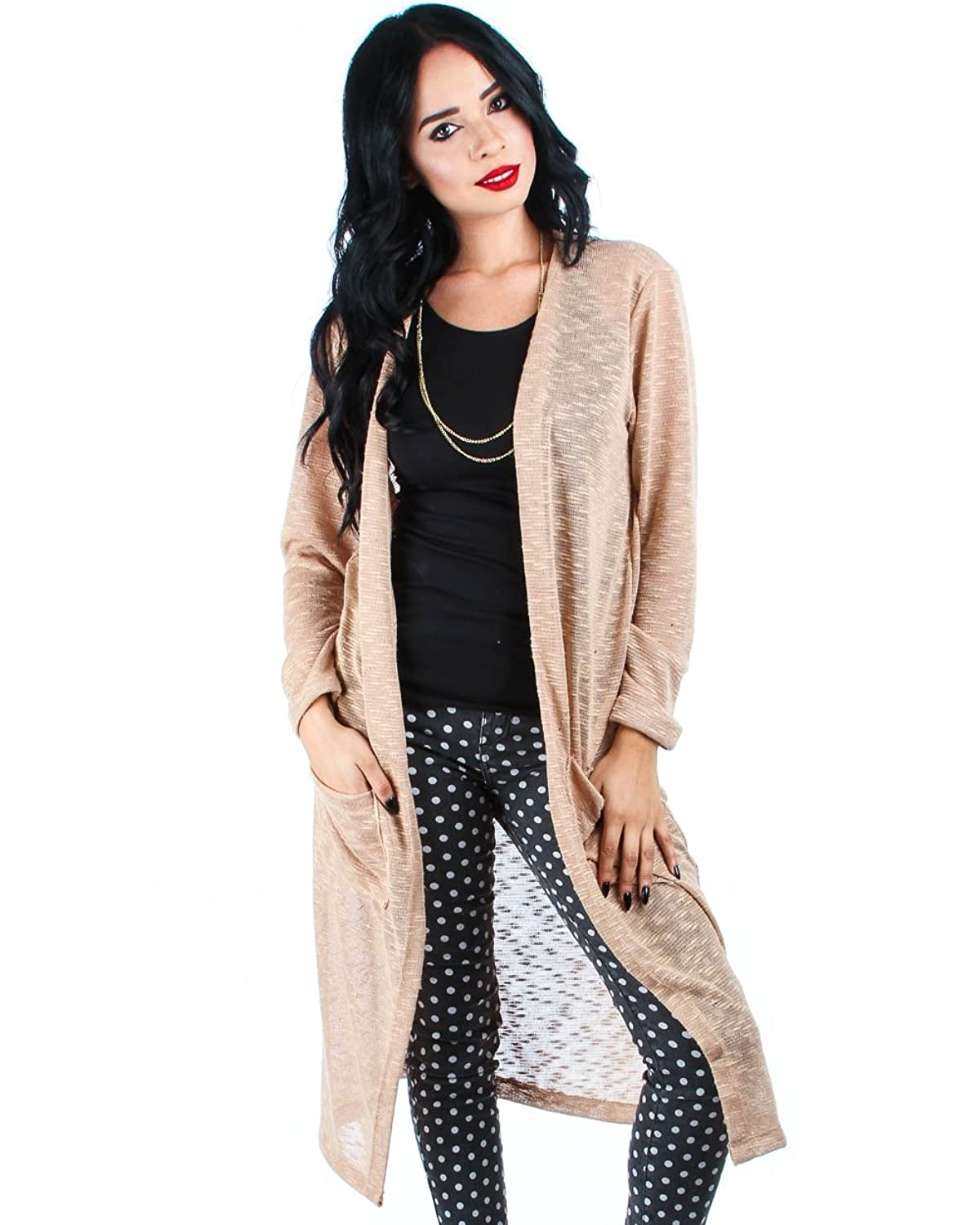 Lyss Loo Long Duster Cardigan With Front Pockets at Amazon Women's ...