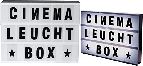 LED caja de luz a4 cine Publicidad cine Luz Cinema Bombilla Caja para colgar Incluye 85 letras y caracteres: Amazon.es: Iluminación