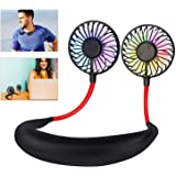 Leipple Neck Fan Portable- Neckband Fan USB Charging Hand Free - Personal Mini Sport Fan - Rechargeable with 3 Speeds…
