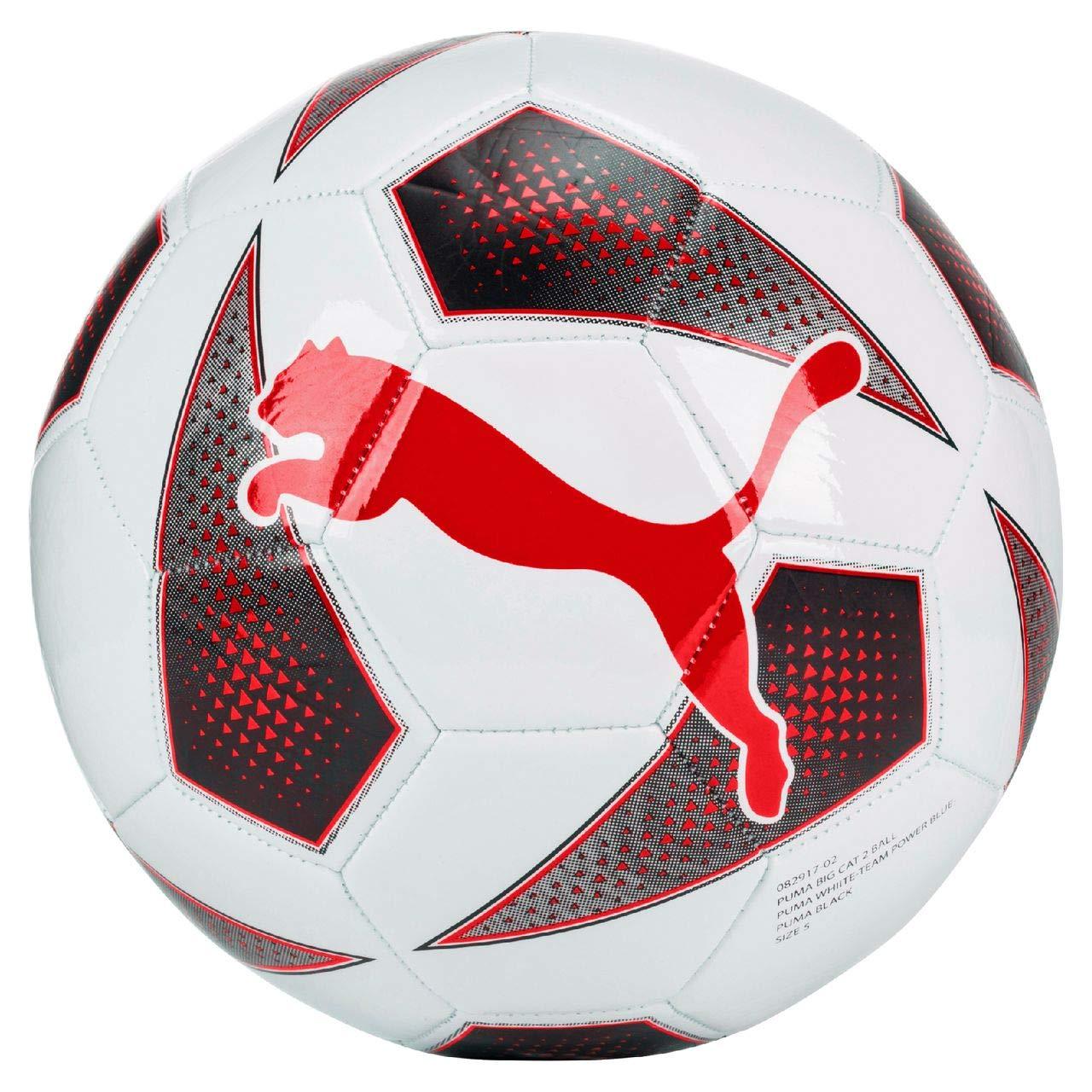 Puma Big Cat 2 Balón de fútbol tamaño 3 Color Blanco de color rojo ...