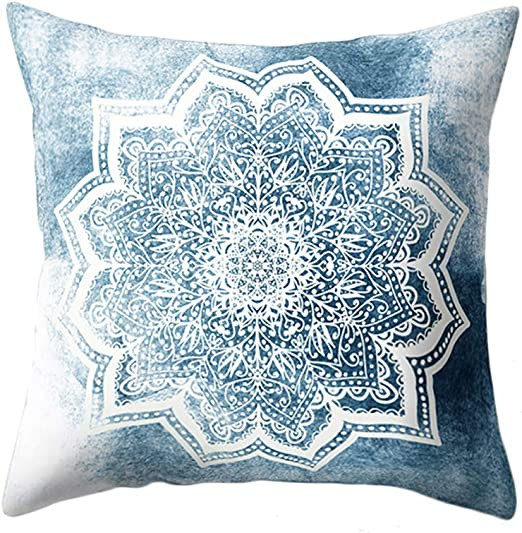 Da.Wa 1x Fundas de Cojines patrón Mandala Vintage Funda de Cojines para Sofa Jardin Cama Decorativo 45 * 45CM: Amazon.es: Hogar