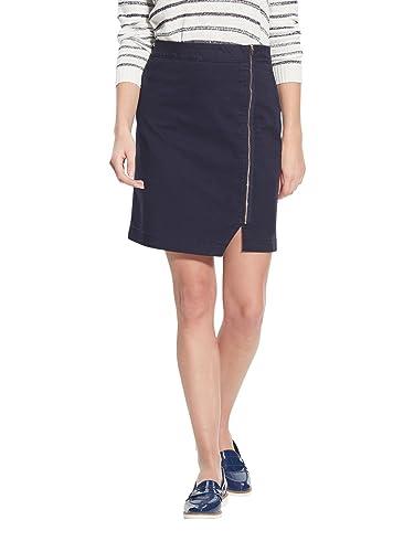 Balsamik - Falda de cremallera, estatura - 1,60 m - Mujer - Size : 42 - Colour : Azul marino
