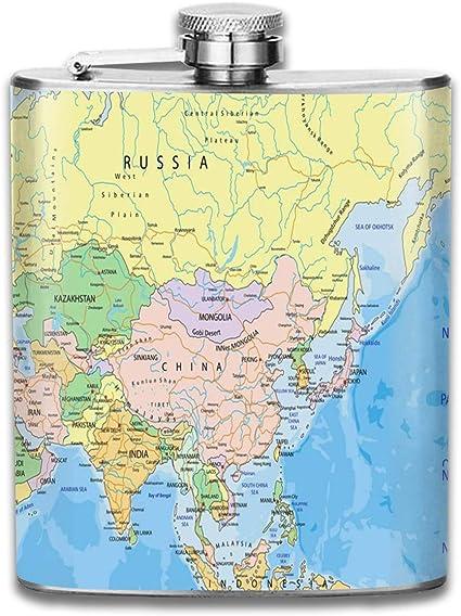 India Asia Continente Mapa político Rusia Atlas Emiratos ...