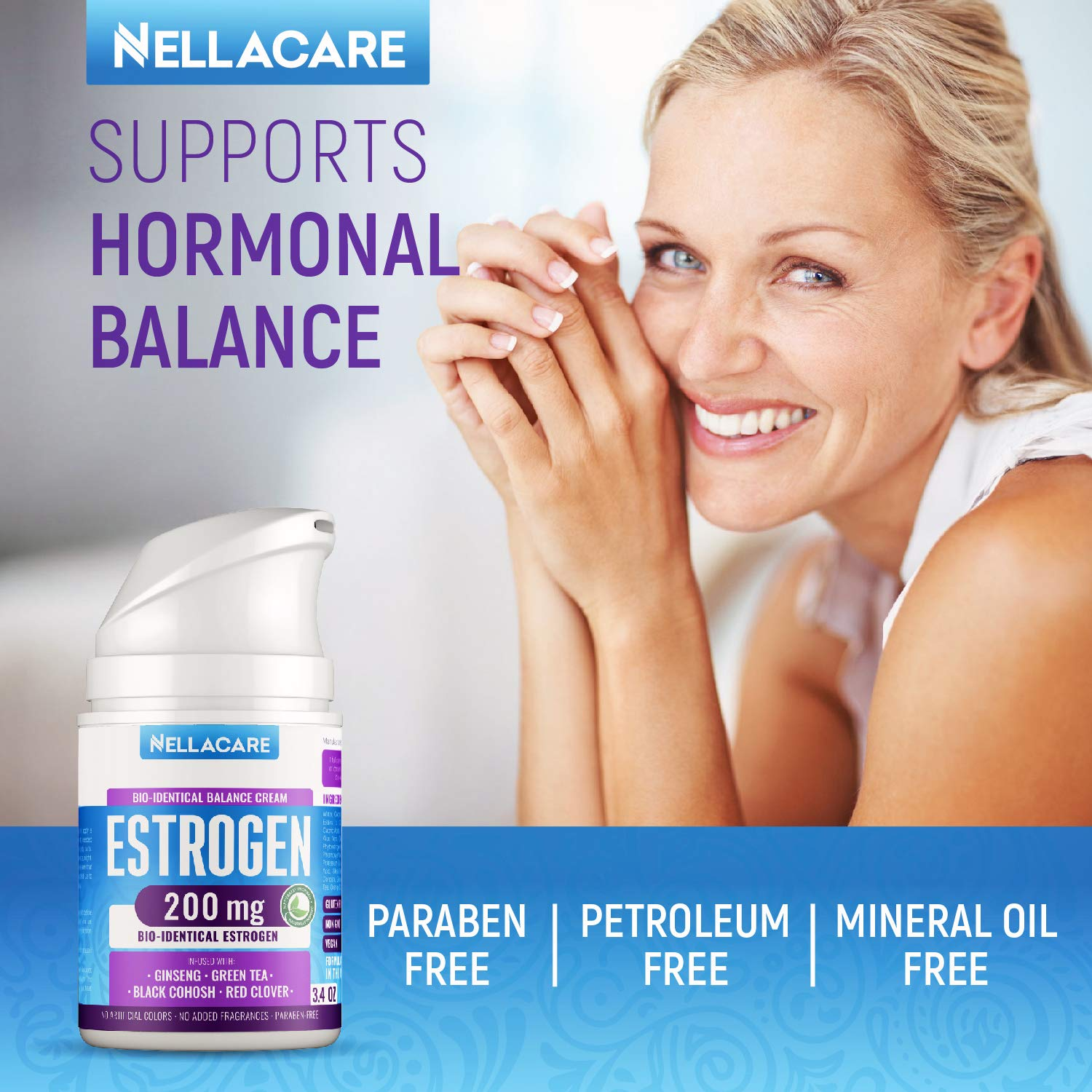 Estrogen Cream for Menopause Relief - PCOS Supplement with Phytoestrogen & Black Cohosh - Made