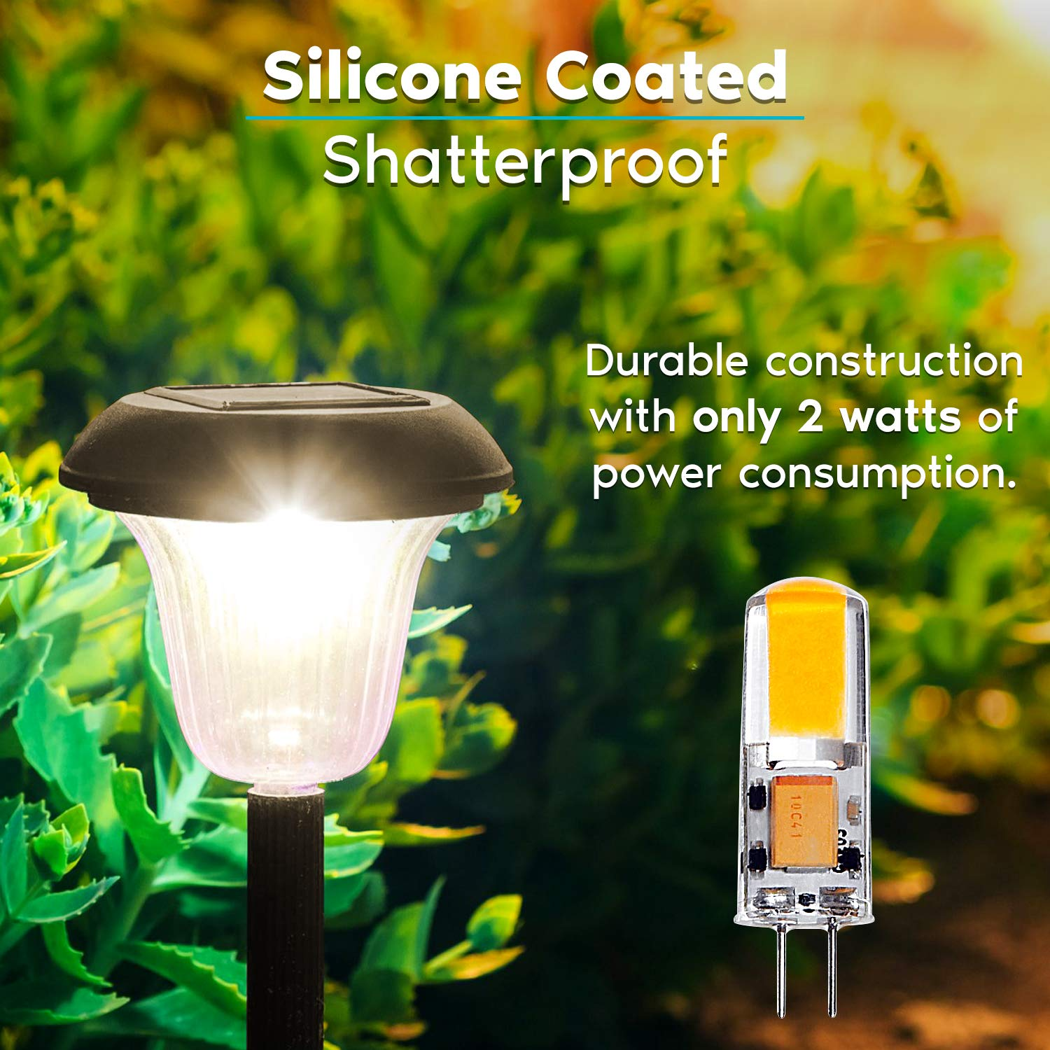 Non-Dimmable 200 Lumens Post Under Cabinet Landscape and Accent Lighting Luxrite G4 LED Bulb 2700K Warm White 20W Halogen T3 Equivalent 10-Pack 12V AC//DC Garden Silicone Shatterproof