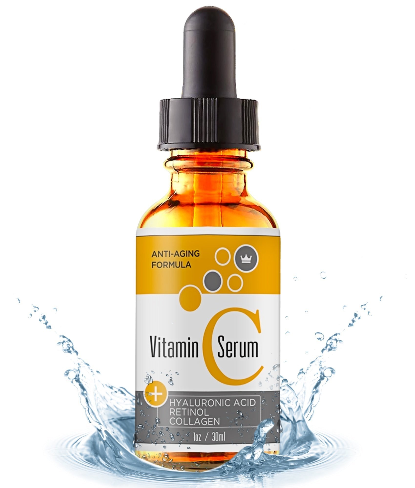 Vitamin C Serum for Face with Retinol & Pure Hyaluronic Acid - USA Made - Anti-Aging Collagen Facial Serum - Best Anti-Wrinkle Solution for Skin and Neck