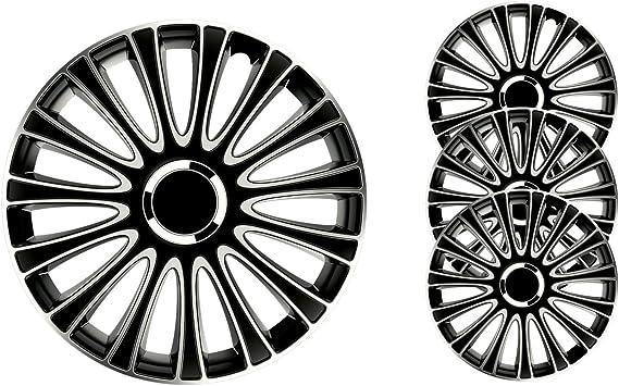4x COPRI RUOTA 15 pollici argento Radzierblenden frase Per Acciaio Cerchioni 60a