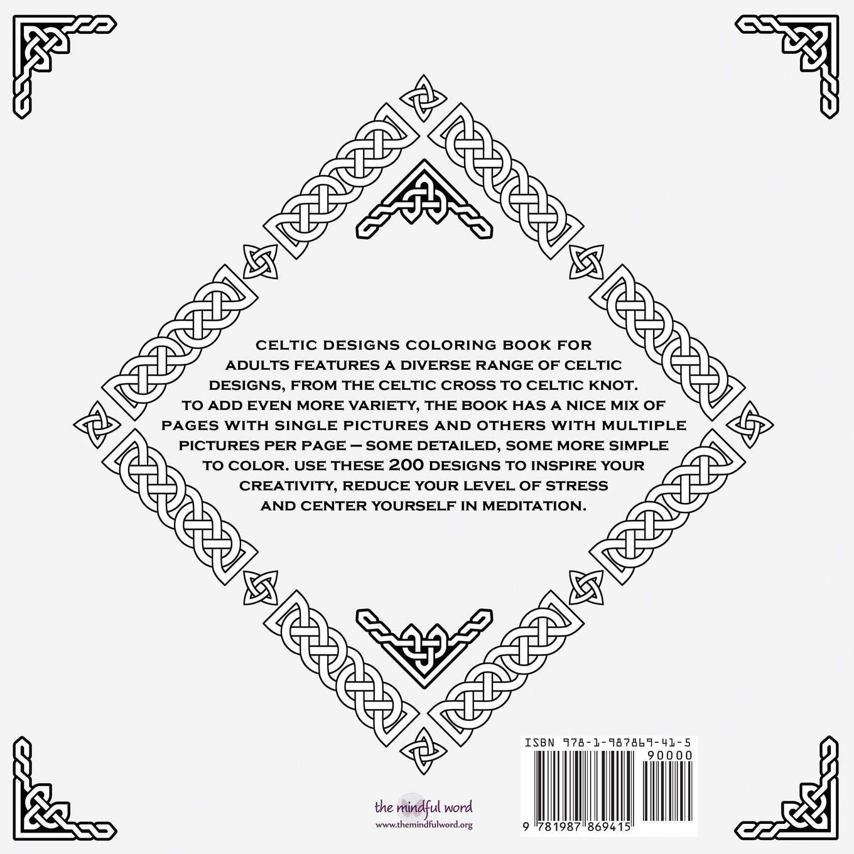 Celtic Designs Coloring Book for Adults: 200 Celtic Knots ...