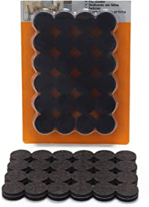 -48 Premium Felt Pads Floor Protector Beige - Chair Felts Pads for Furniture Feet Wood Floors - Best Furniture Pads for Hardwood Floors - Protect Your Wood Floors! (Grey)
