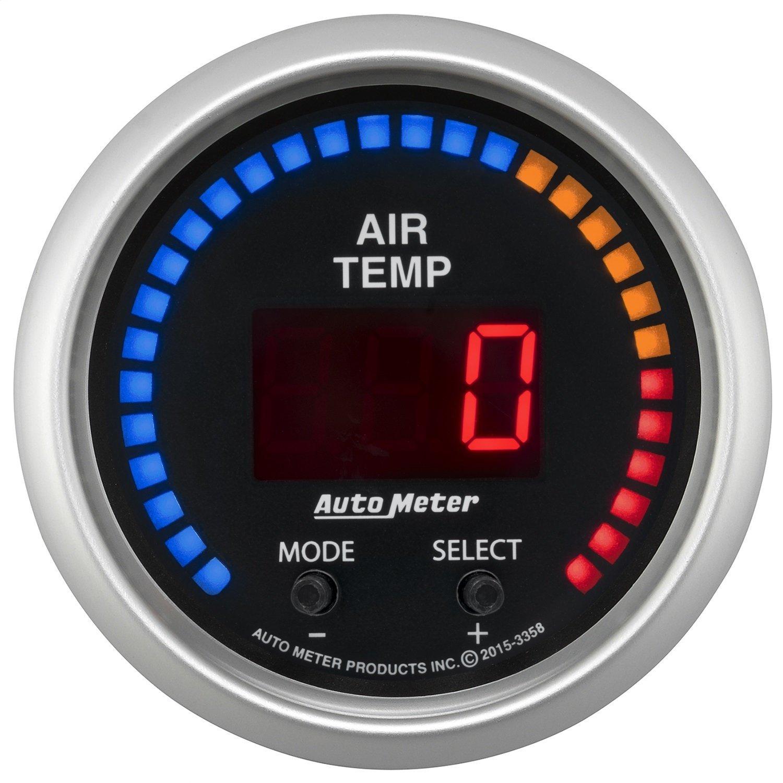 Auto Meter AutoMeter 3358 Gauge, Air Temp, Dual, 2 1/16'', 0-300ºf, Digital, Sport-Comp