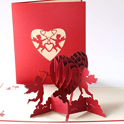 Carte 3D Pop up Mariage Papier Spiritz Pop up Carte Amour Carte Mariage F/élicitation 3D Pop up Mariage Birthday Card for Her Cartes de Carte du Nouvel an Chinois 3D