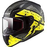 LS2 Helmets Rapid Deadbolt Hi-Viz Graphic Unisex-Adult Full-Face-Helmet-Style Motorcycle Helmet (Black, Medium)