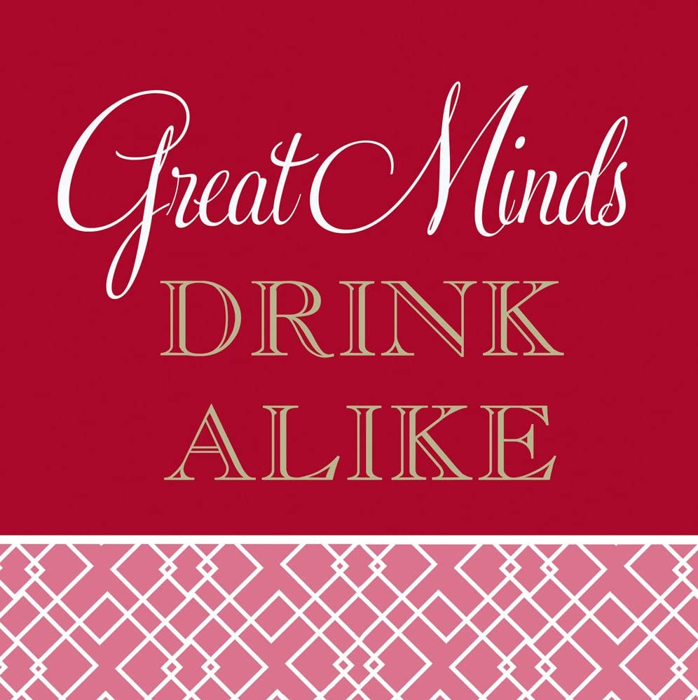 Cypress Home Great Minds Drink Alike Paper Cocktail Napkin, 20 count