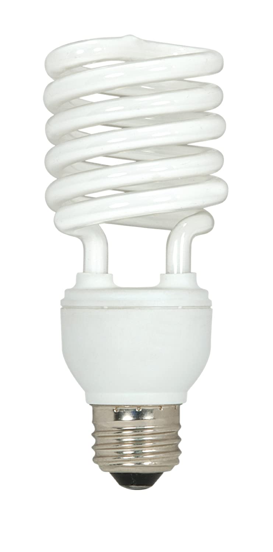 Satco Products S6235 13-Watt Medium Base T2 Mini Spiral, 2700K, 120V, Equivalent to 60-Watt Incandescent Lamp for Enclosed Fixtures