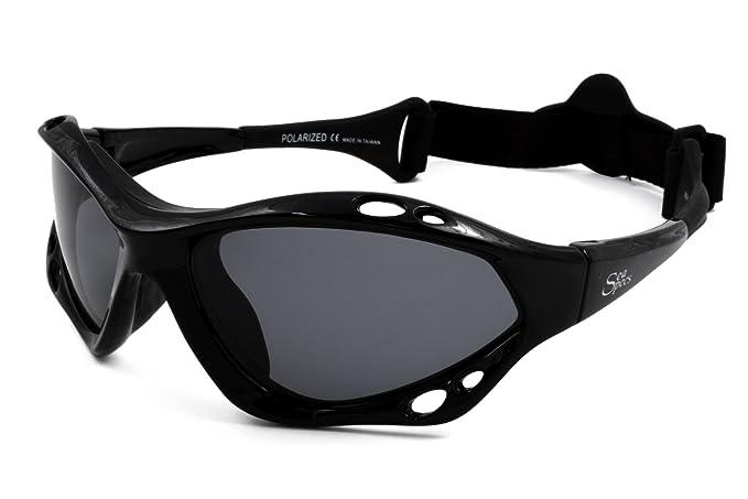 eca459c271 Amazon.com  SeaSpecs Black Jet Specs Extreme Sea Specs Sunglasses ...