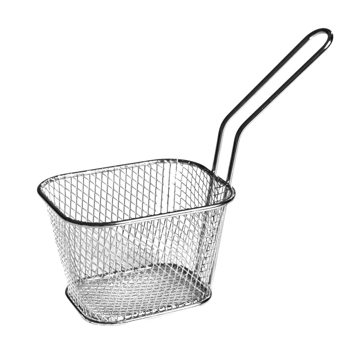 8pcs Mini Square Fry Basket Present Fried Food, Table Serving Mini Chip Baskets Mini Fryer Serving Food Presentation Basket Kitchen