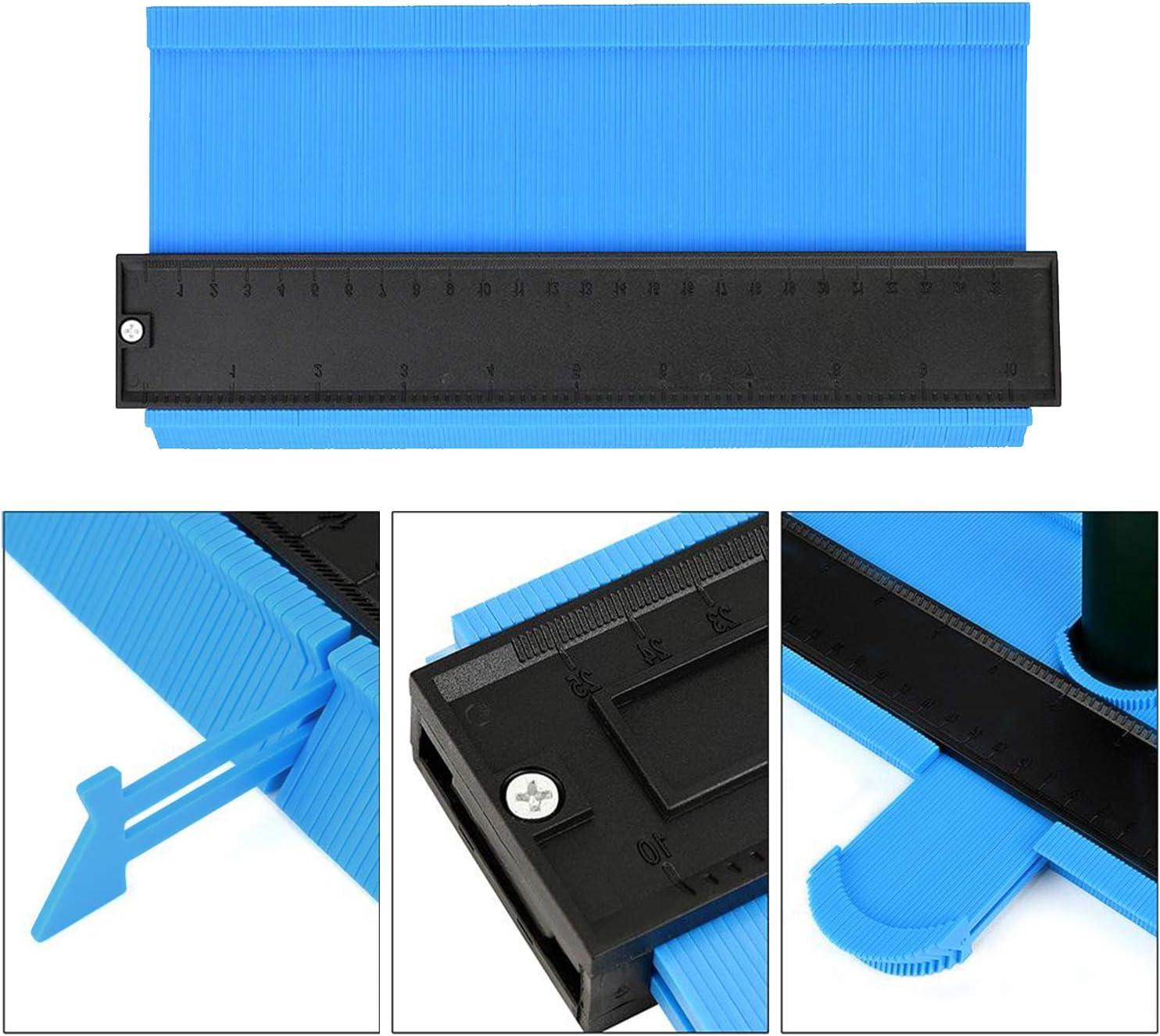 Aaaspark 2 Piezas Medidor de contornos (12cm&25cm) Herramienta de Medición de Perfil Irregular, Ideal para Azulejos Edge Shaping Madera Medida & Azulejos laminados (Azul): Amazon.es: Bricolaje y herramientas