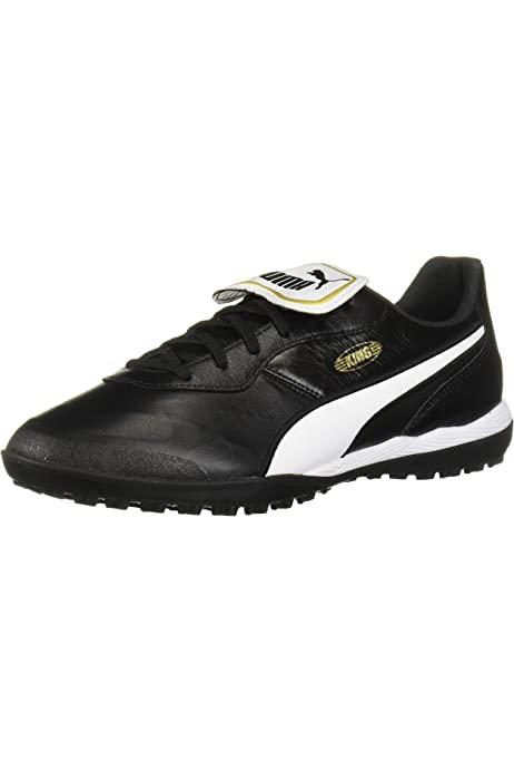 pérdida parálisis por supuesto  Amazon.com | PUMA Men's King PRO TT Sneaker, Black White, 4 M US | Shoes