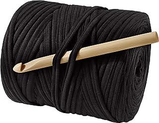CRELANDO® Textilgarn-Häkelset 'Lina' (schwarz)