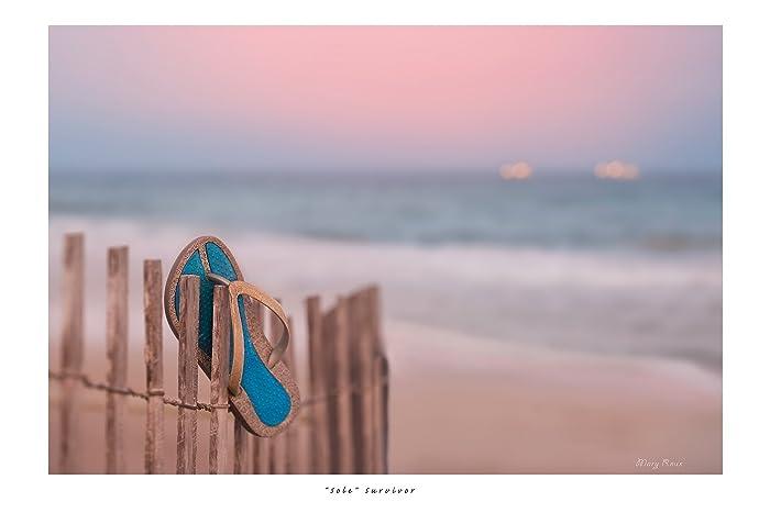 Amazon.com: Shabby Beach Ocean Photo Print \