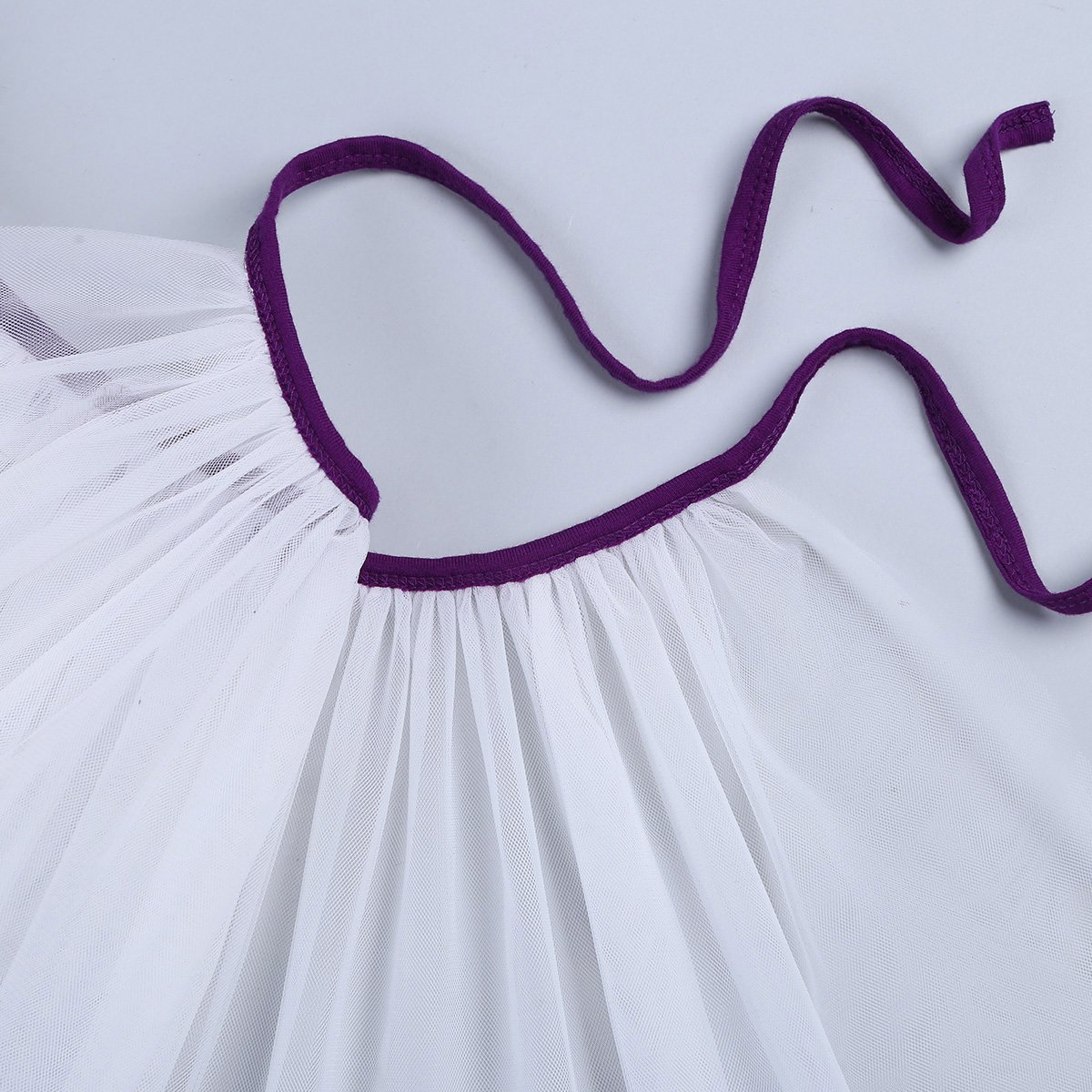 Freebily Girls Cotton Spaghetti Shoulder Straps Ballet Dance Gymnastics Leotard with Mesh Tied Skirt Outfit Set