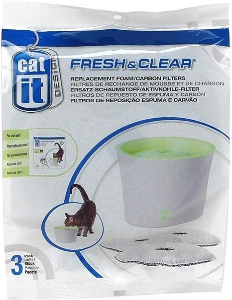 3 X Petsafe Drinkwell fuente de carbón reemplazo paquete de cartuchos de filtro de agua