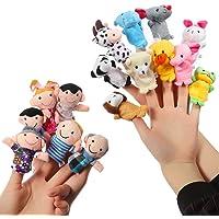 ThinkMax 16 Piezas Marionetas de Dedo Animales