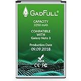 GadFull Batteria compatibile con Samsung Galaxy Note 3 | 2018 Data di produzione | Corrisponde al EB-B800BE originale | Compatibile con GT-N9000 | GT-N9005 | GT-N 9006 | GT-N9009