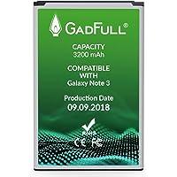 GadFull Batería de reemplazo para Samsung Galaxy Note 3 | 2018 Fecha de producción | Corresponde al Original EB-B800BE | Compatible con GT-N9000 | GT-N9005 | GT-N9006 | GT-N9009