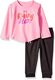 211a6ecf41 Amazon.com: Under Armour Baby Girls' Lumos Tee and Shorts 2 Piece ...