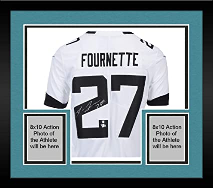 4240a187c Framed Leonard Fournette Jacksonville Jaguars Autographed White Nike  Limited Jersey - Fanatics Authentic Certified