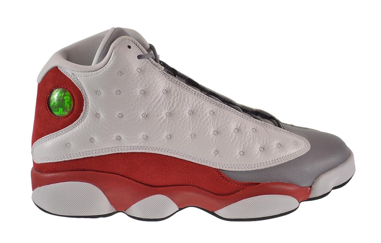 Amazon.com | Jordan Mens AIR JORDAN 13 RETRO White/True Red/Cement  Grey/Black 414571-126 12 | Basketball