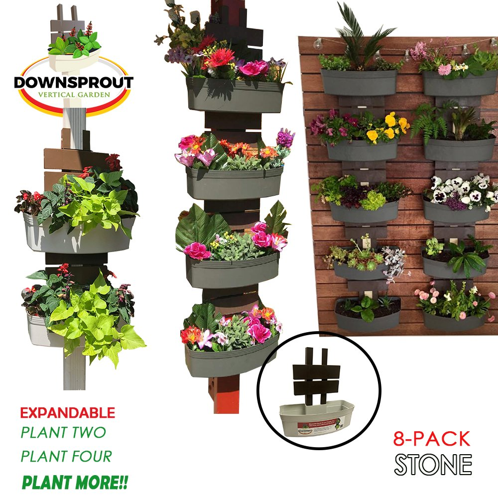 Downsprout Vertical Planter, Gutter Garden, Post Planter, Pergola Post Planter, Deck Planter, Living Wall (8) by Downsprout Vertical Garden
