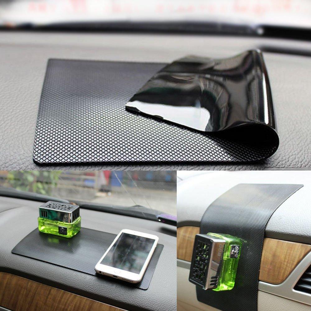 New Magic Anti-Slip Non-Slip MatCar Dashboard Super Sticky PadAnti-Slip Gel Pad, Cell Phone Mount HolderMat by ZhuTookfor GPS,Sunglasses, Keys and more - Black (Size: 11'' X 7'')