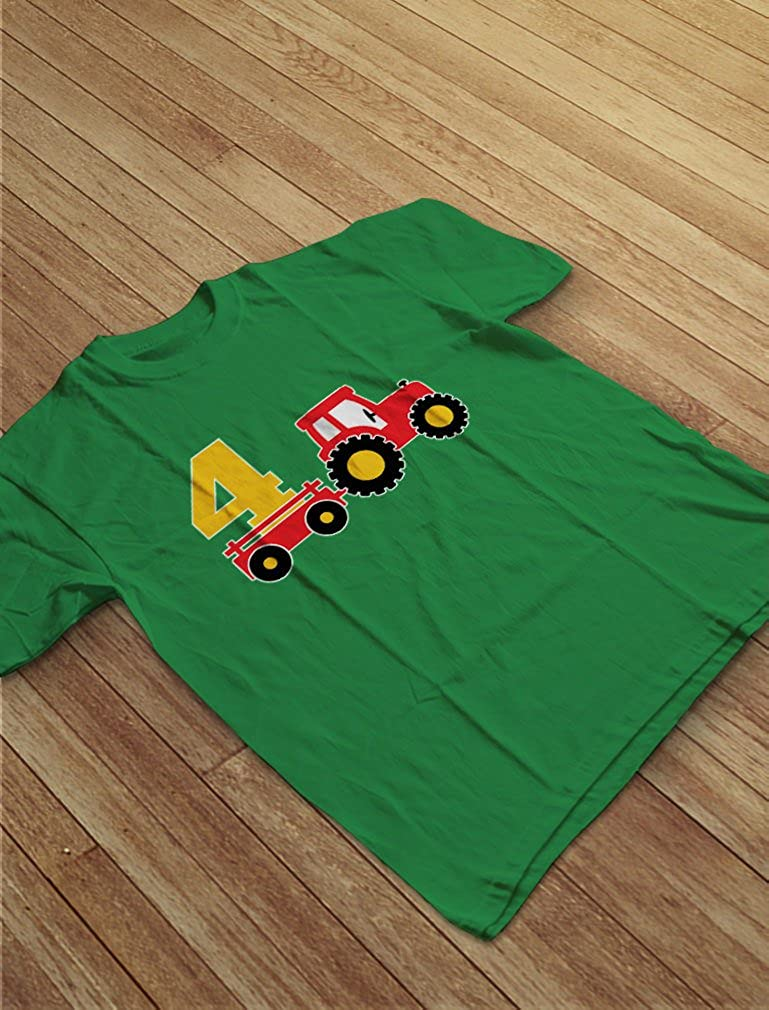 4th Birthday Gift Construction Party 4 Year Old Boy Toddler//Infant Kids T-Shirt