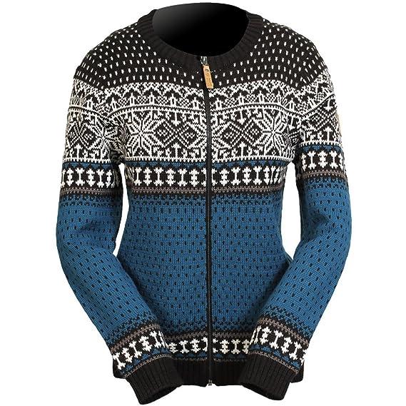 002ba3ea0a ICEWEAR Martha Norwegian Breathable Wool-Blend Open Fronts Full Zip Sweater