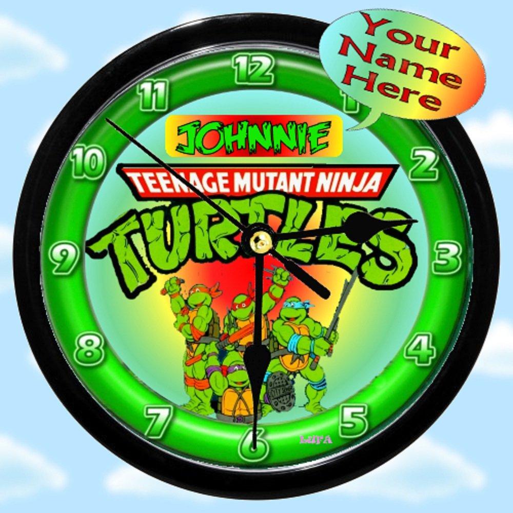 Personalized Teenage Mutant Ninja Turtles Wall Clock