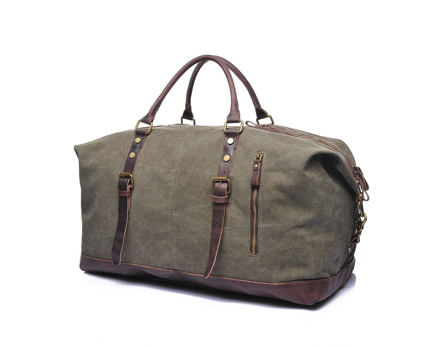 DAYIYANG Special Design Mens Retro Travel Bags Crazy Horseskin Embroidery Shoulder Bags Bags Canvas Bags Color : Brown, Size : L