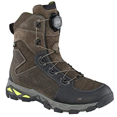 Irish Setter Men's Ravine Hiking Boot, Brown/Lime Green, 10.5 D US | Hiking Boots