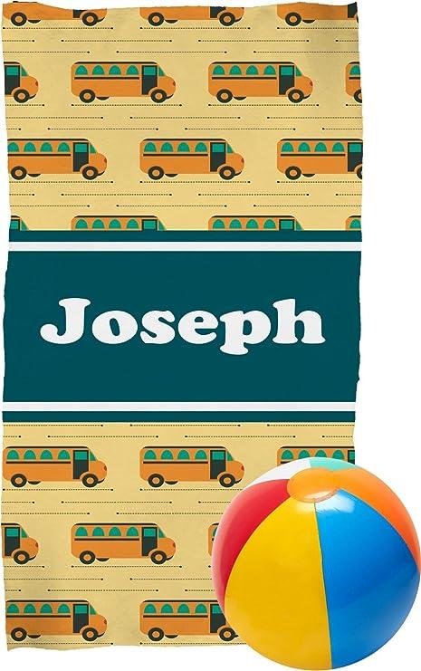 Autobús escolar toalla de playa (personalizado)
