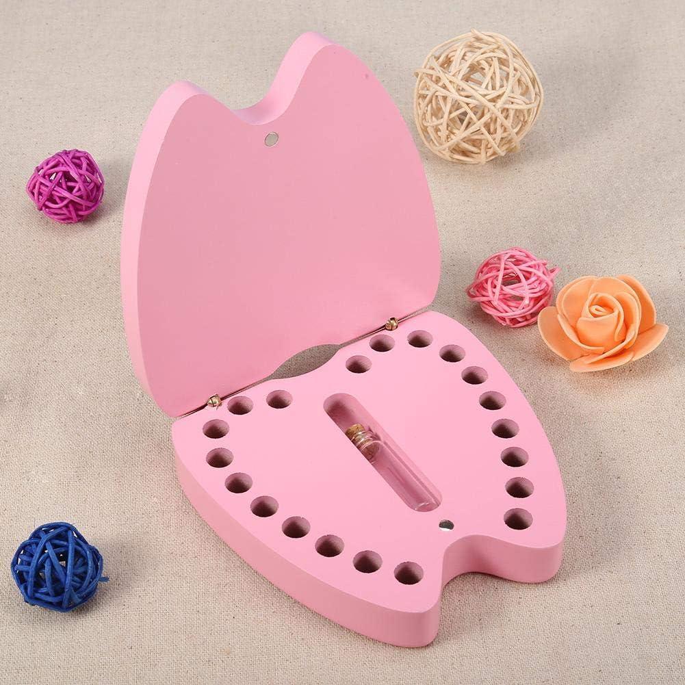 Caja de recuerdos para dientes de beb/é dise/ño de dientes de madera organizador de almacenamiento de dientes colecci/ón de dientes deciduos caja de recuerdos para ni/ños y ni/ñas