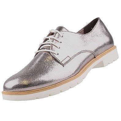 69966c9147c8 Tamaris Damen Schnürschuhe Silber  Amazon.de  Schuhe   Handtaschen
