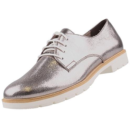 Tamaris Schöne Schuhe Für Damen Schnürschuhe Silber