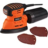Mouse Detail Sander, TACKLIFE 12000OPM Electric Sander with 12Pcs Sandpapers (80 & 180 Grits), 1.1A(130W) Hand Sander…