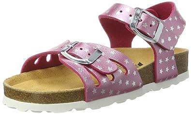 Lico Mädchen Bioline Sandal Flache, Pink (Pink/Silber), 29 EU