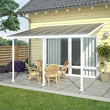 Techo terraza avanzada blanco, 3 x 4 m-Dim: 425 x 295-PEGANE-x 260 cm: Amazon.es: Hogar