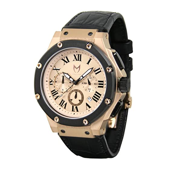 a433fb27f5 Meister Watches / MSTR Watches Men's Ambassador Watch | AM131CB | Rose Gold  & Black | Stainless-Steel Case And Leather Band: Meister Watches:  Amazon.ca: ...