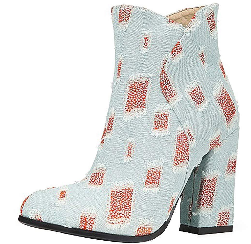 Calaier Femme ankxim 10CM 18391 Aiguille Bottes Fermeture Éclair Bottes Chaussures Calaier Rouge 42c8c76 - conorscully.space